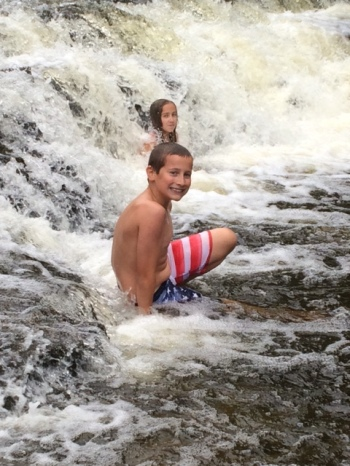 Kids at the Falls